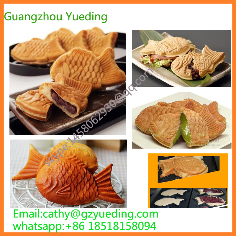 Stainless steel gas waffle maker fish ice cream taiyaki machine taiyaki maker with ice cream filling taiyaki machine for sale ice cream filling to fish shaped cake fish cake maker