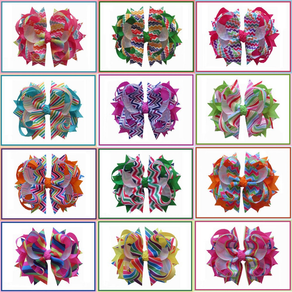 """10 BLESSING Happy Girl Hair Accessories 5/""""  Ball Butterfly Hair Bow Elastic"""