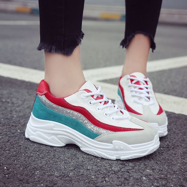 62bd4823187ea Bling Daddy Sneakers Women Spring Casual Shoes Basket Flats Female Platform Shoes  chunky Woman Trainers Shoes