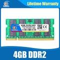 Memoria ddr2 4 ГБ 533/667/800 МГц sodimm ddr ram 4 ГБ 2 PC2-6400 ноутбук для Intel amd плат Пожизненная Гарантия