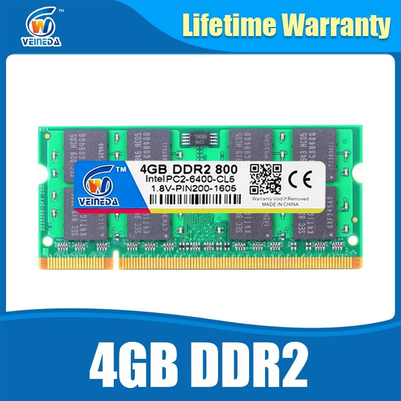 Memoria ddr2 4gb 533 667 800Mhz sodimm ram 4 gb ddr 2 PC2 6400 notebook for