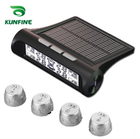 Smart Car TPMS Tyre Pressure Monitoring System Solar Energy TPMS Digital LCD Display Auto Security Alarm