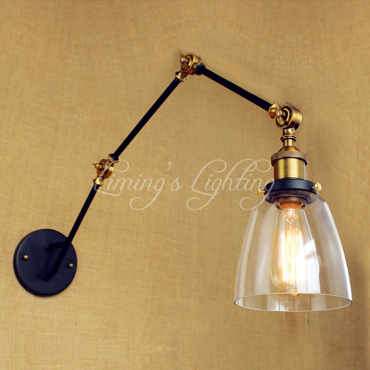 Retro Adjustable Swing Long Arm Wall Lamp Industrial Loft Vintage Wall Lights Fixtures Edison LED Wall Sconce Aplik Lampba retro vintage industrial wall lamp lights fixtures indoor lighting in loft style arandela aplik edison wall sconce