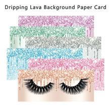 100 滴下溶岩背景紙カード内部にスライドケースオファーカスタム印刷 (追加プライベートデザインビジネス名)