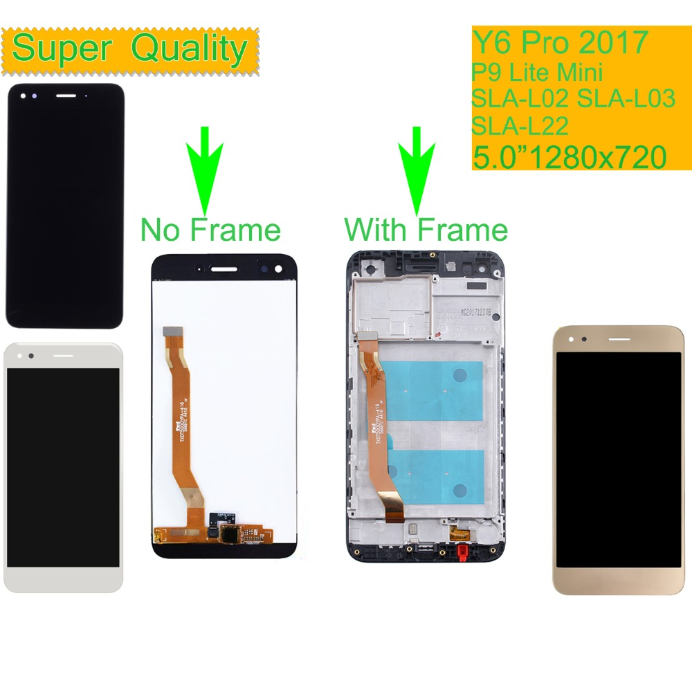 ORIGINAL For Huawei Y6 Pro 2017 LCD DUAL SIM SLA-L02 SLA-L03 SLA-L22 LCD Display Touch Screen Assembly With Frame P9 Lite Mini