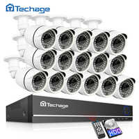 Techage 16CH 1080N CCTV DVR Sistema di Sicurezza AHD DVR Kit 2MP 1080P IR Esterno IP66 Macchina Fotografica Impermeabile P2P Video di sorveglianza Set