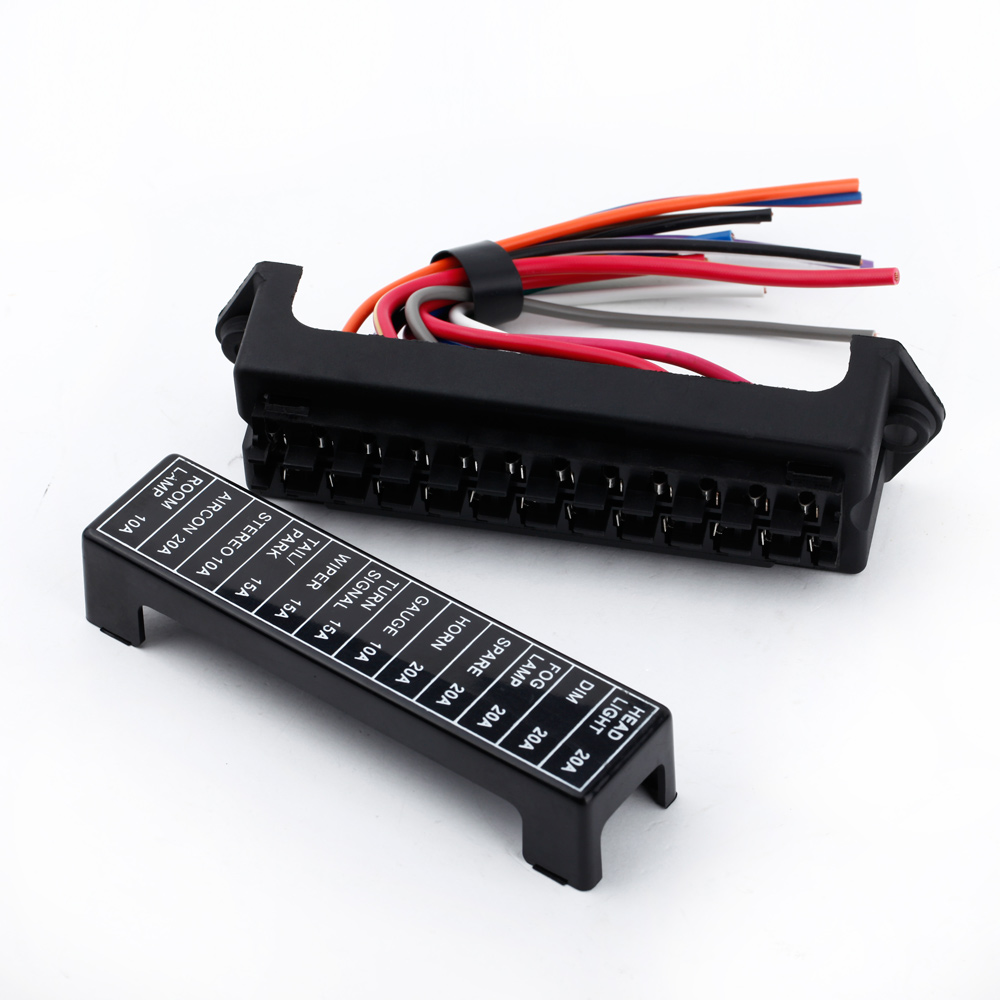 aliexpress com buy 12 way dc 12v volt fuse box 24v 32v circuit aliexpress com buy 12 way dc 12v volt fuse box 24v 32v circuit car trailer auto blade fuse box block holder atc ato 2 input 12 ouput wire from reliable