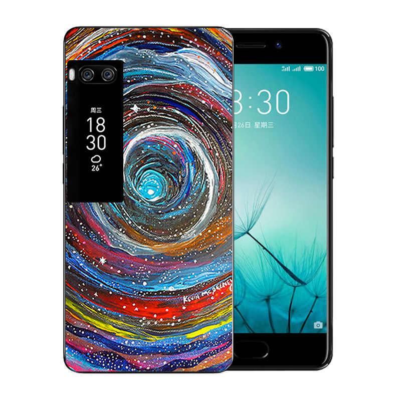 Dla Meizu pro 7 etui na telefon wulkaniczne wzór miękki TPU luksusowe silikonowe Capa dla Meizu pro 7 miękki TPU krzemu pełna osłona zabezpieczająca