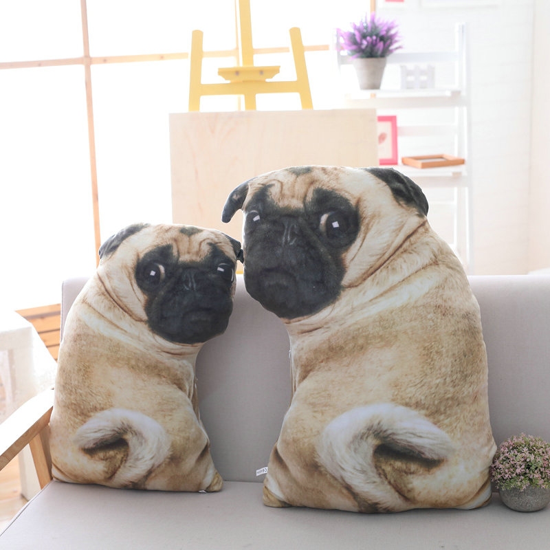 Drop shipping 55/70cm Cute Simulation Dog Plush Toy 3D Printing Soft Stuffed Animal Dog Plush Pillow Cushion Home Sofa Decor plush big tail animal toy for dog