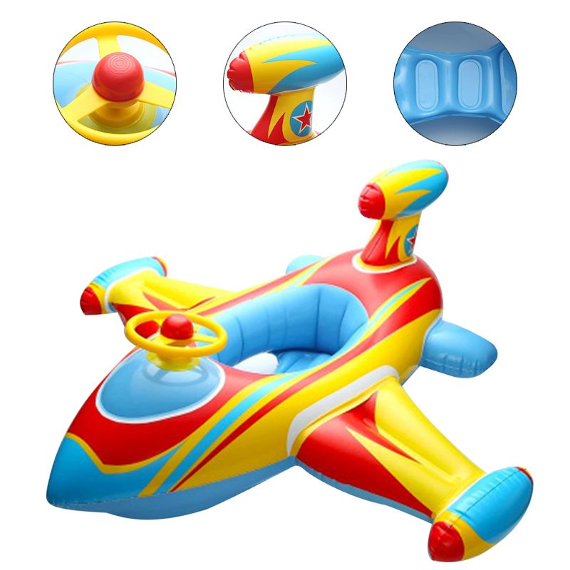 Inflatable Swimming Ring Airplane Baby Float Seat Toddler Infant Pool Boat