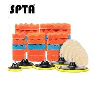 SPTA 8 Stuks Buffer Pad Set 3/4/5/6/7 inch Auto Polijsten Pad kit voor Auto Polijstmachine + Boor Adapter M14 Power Tools Accessoires