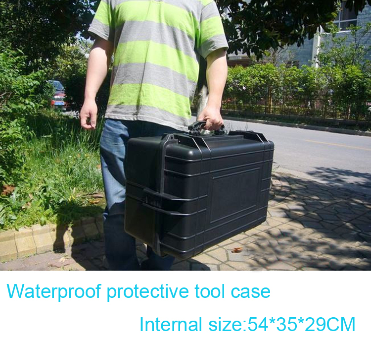 Tool case toolbox travel case Impact resistant sealed waterproof camera case protective suitcase with pre-cut foam lining tool case gun suitcase box long toolkit equipment box shockproof equipment protection carrying case waterproof with pre cut foam