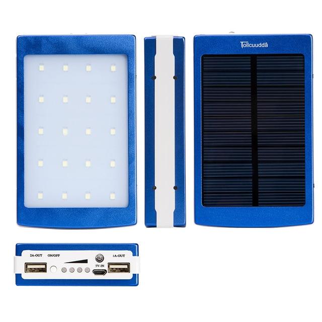 Солнечная Энергия Банк 12000 мАч Портативное Зарядное Устройство Для Iphone...