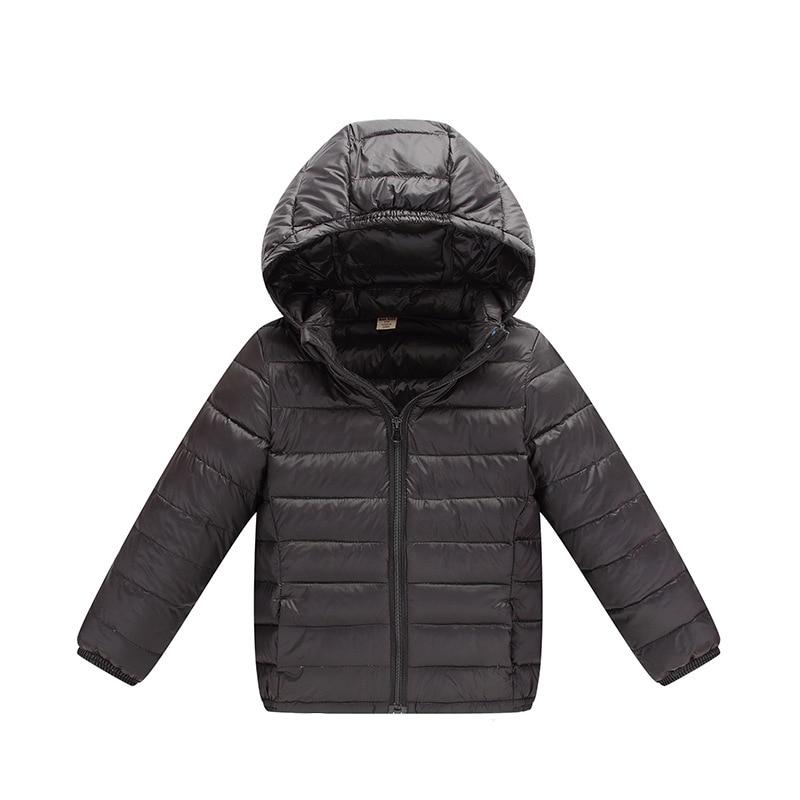 2017 Ultra Light Boys Down Jacket for Girls White Down Parkas 90 Down Winter Warm Children