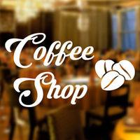 Coffee Shop Takeaway sticker Window Lettering sign art catering fresh decor