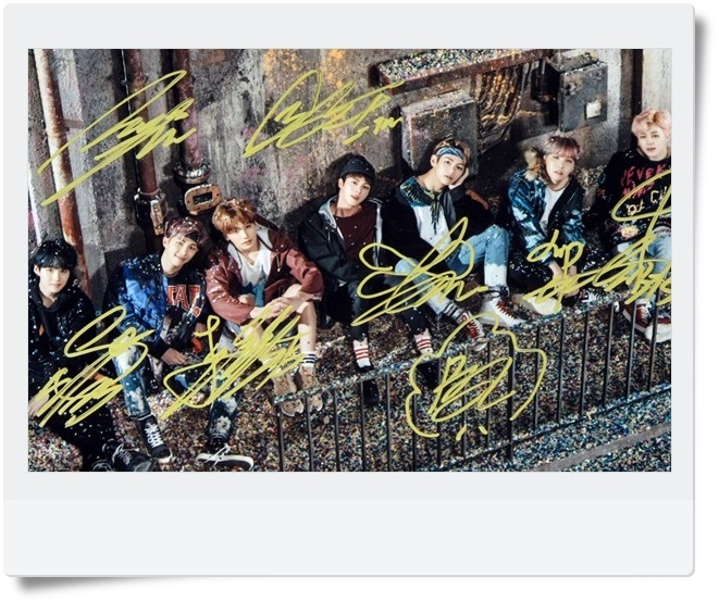 BTS  autographed signed group photo WINGS  10*15cm 4*6inches freeshipping new korean  03.2017