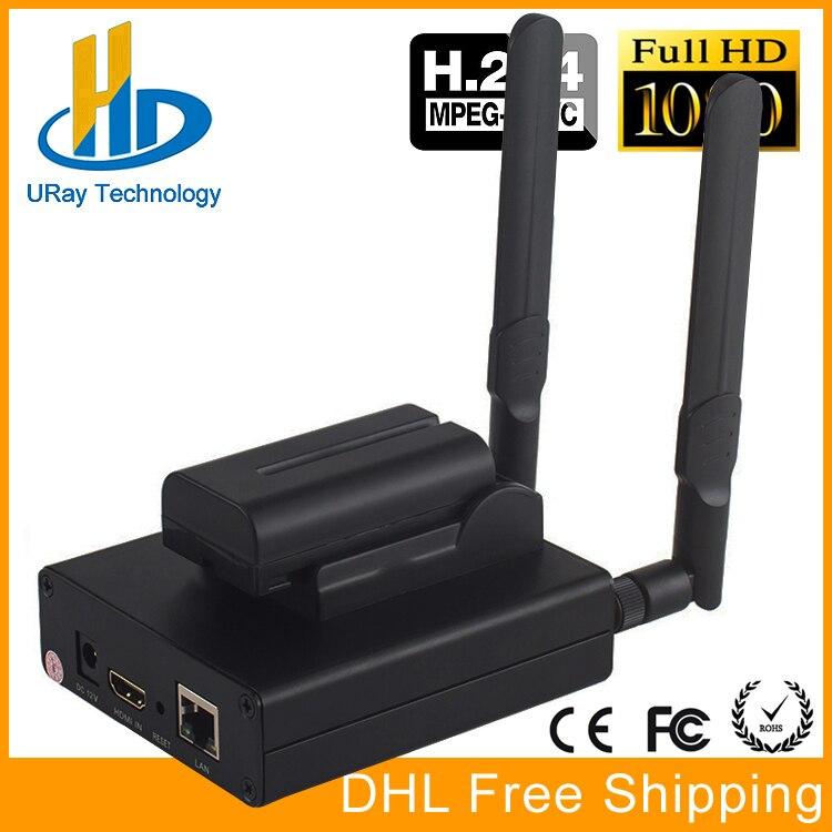 DHL Livraison Gratuite MPEG-4 AVC/H.264 WIFI HDMI Encodeur Vidéo HDMI Émetteur Diffusion En Direct Codeur Sans Fil H264 IPTV Codeur