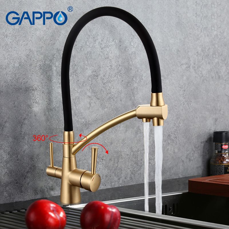 GAPPO kitchen faucet mixer taps water faucets kitchen sink mixer water tap gold kitchen tap sink torneira cozinha gappo new brass kitchen faucet mixer blackened kitchen sink tap single handle filtered water tap torneira cozinha crane g4390 10