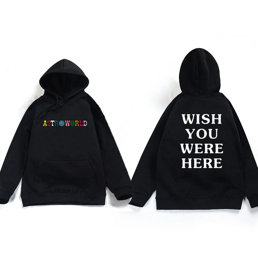 2018 Travis Scott Astroworld WISH YOU WERE HERE Unisex Pullover Hoodie and Sweatshirt different size pls