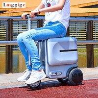 Электрический езда путешествия сумки на колёсиках сумка, умный чемодан с колесами, Rideable дело тележки, кабина роскошный Carry on Box