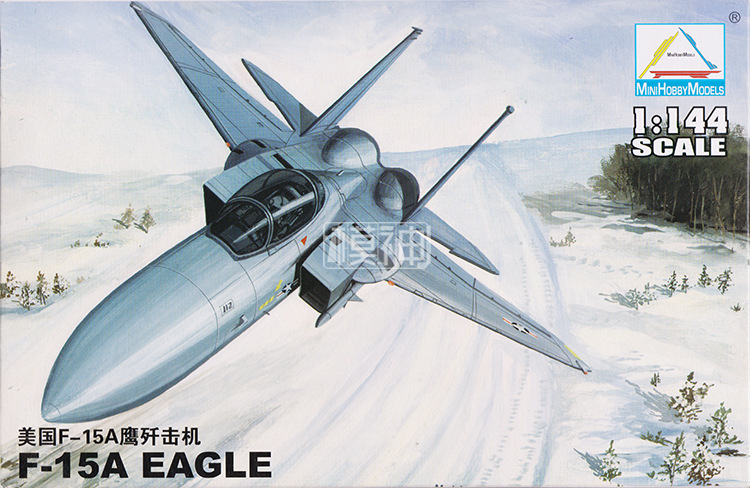 1: 144 USA F-15A Eagle Fighter Military Assembly Aircraft Model 80422
