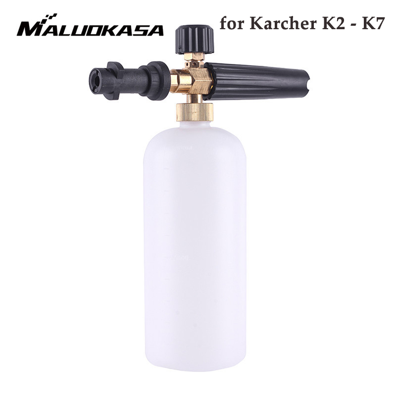 цена на High Pressure 1L Soap Foam Generator Foamer Sprayer Car Foam Gun Weapon Snow Foam Lance for Karcher K2 K3 K4 K5 K6 K7 Car Washer