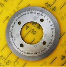 Diameter:60mm inner hole:25mm thickness:2mm  360 degree Ultra small dial scale Stainless steel disc