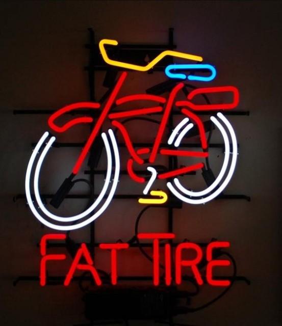 Custom Fat Tire Neon Light Sign Beer Bar