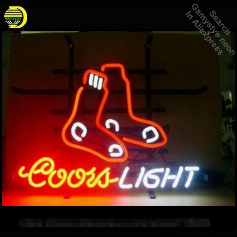 Enseigne au néon pour Sox League BR Coors lumière publicité néon Tube signe Commercial lumière artisanat Publicidad lampes Art magasin affiche