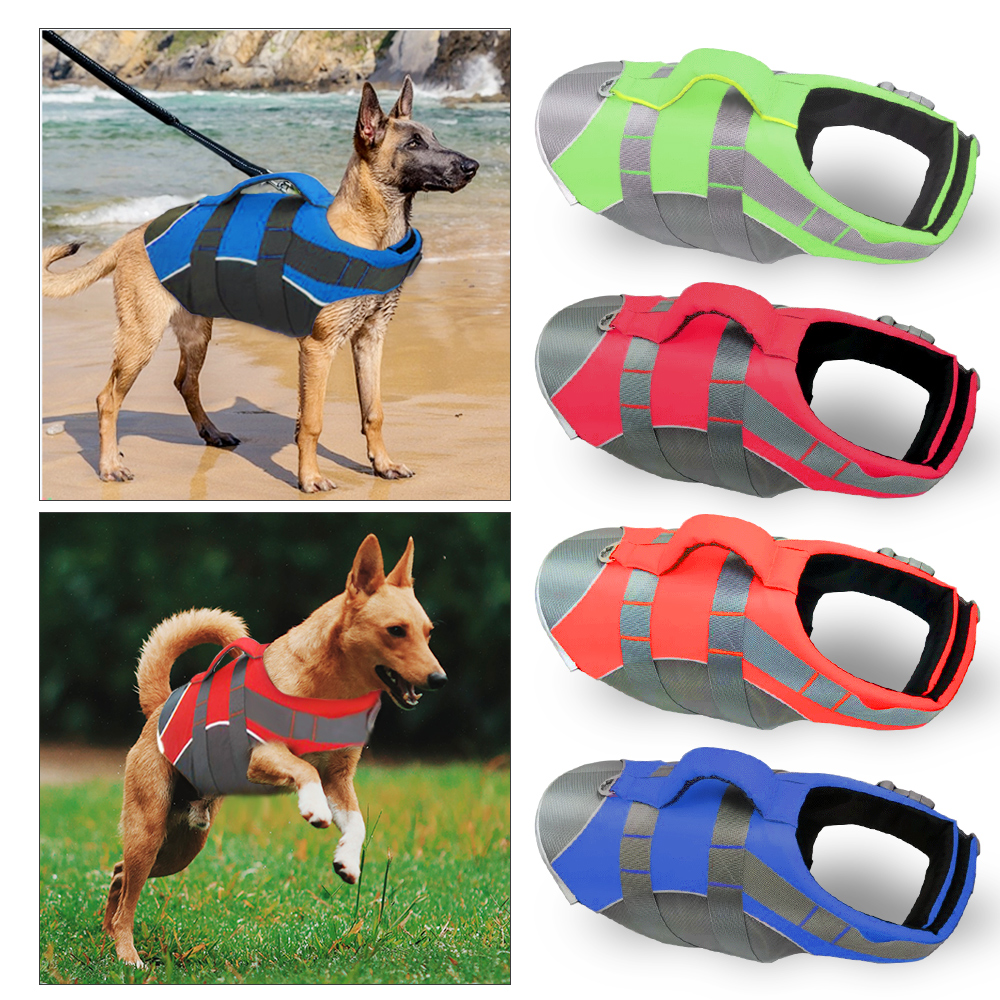 Pet Dog Life Jacket Safety Clothes Life Vest Collar Harness Saver Pet Dog Swimming Preserver Summer Swimwear