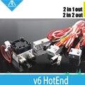 Impressora 3D All-Metal/Teflon Extrusão Ciclope e Quimera 2 em 1 kit Extrusora hotend Multi Cor + bloco kit final quente