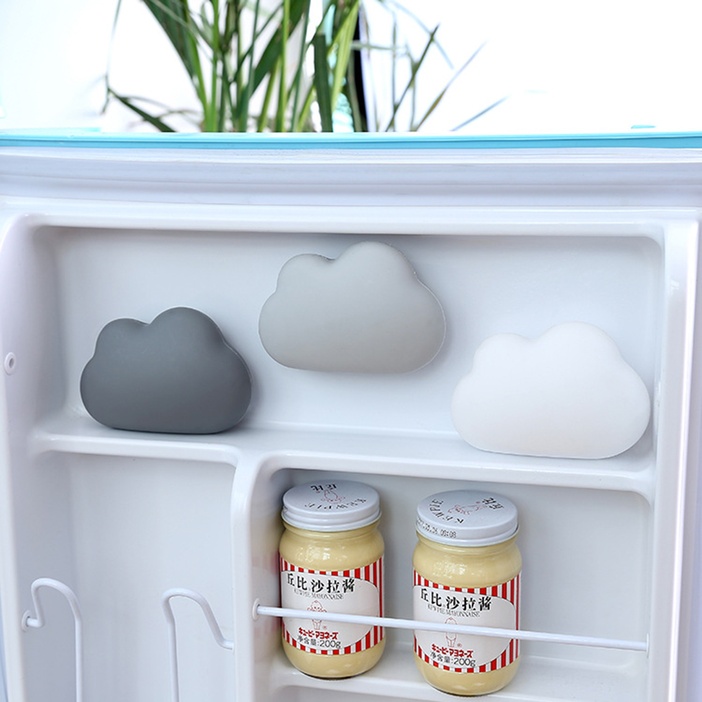 Cloud Shaped Refrigerator Car Air Purifier Suction Cup Fragrance Box Fridge  Activated Bamboo