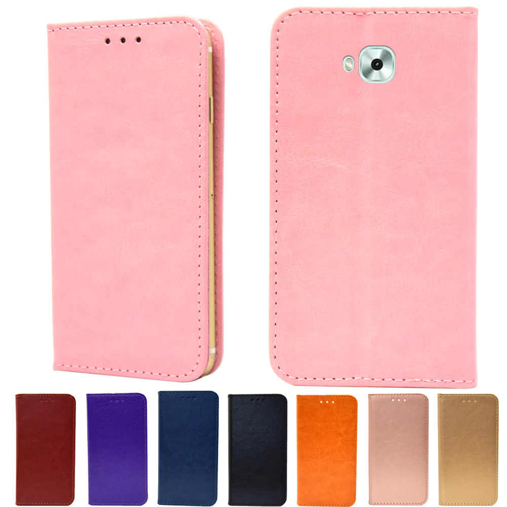 d64f26307365 Luxury Book Wallet PU Leather Flip Case Stand Card Holder Case Cover For  ASUS ZenFone Live