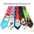 2016 Nuevo Diseño De Navidad Empate 9.5 cm Corbata de Los Hombres Corbatas de Moda Del Festival Helloween del Lazo Suave Diseñador Corbata Carácter