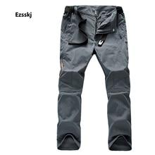 Men's Summer Hiking Climbing Trekking Waterproof Trousers Outdoor Adjustable Cargo Overalls Zipper Front Breathable Pants