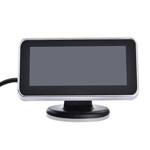 Image 4 - אוטומטי Parktronic LED דיגיטלי חניה 4 חיישן הפוך גיבוי רכב חניה היפוך רדאר צג גלאי מערכת תאורה אחורית Displa