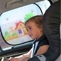 2pcs Car Curtain Anti Universal Car Window SunShades Baby Sunshade Blocks Harmful UV Rays Sun Glare Heat Curtain Suction Cartoon