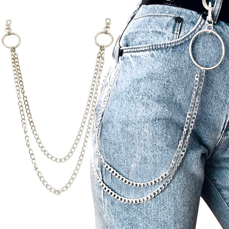 Calle Gran anillo clave colgante cadena Punk Rock pantalones Hipster clave cadenas  pantalón Jean llavero HipHop 445fbfc7745e