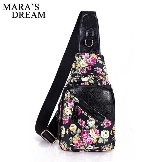 Mara's Dream Women Chest Pack Bag Leisure Travel Sling Bag Print Female Nylon Shoulder Chest Crossbody Sling Bag Pack For Girls
