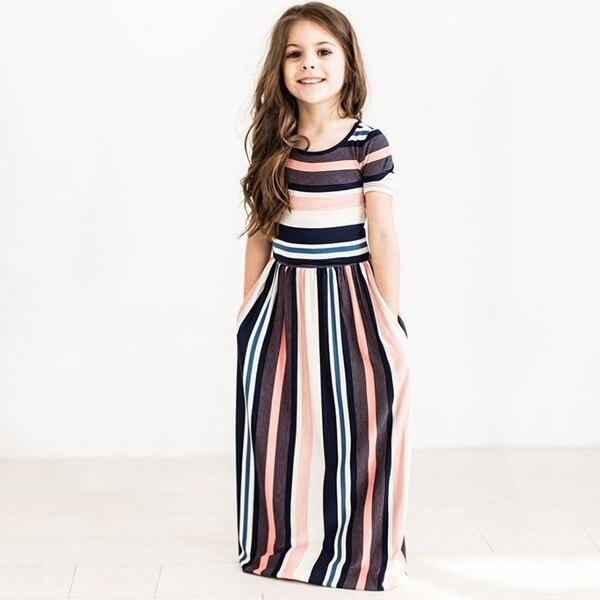 2018 letnie dziewczyny europejska i amerykańska sukienka dziecięca - Ubrania dziecięce - Zdjęcie 5