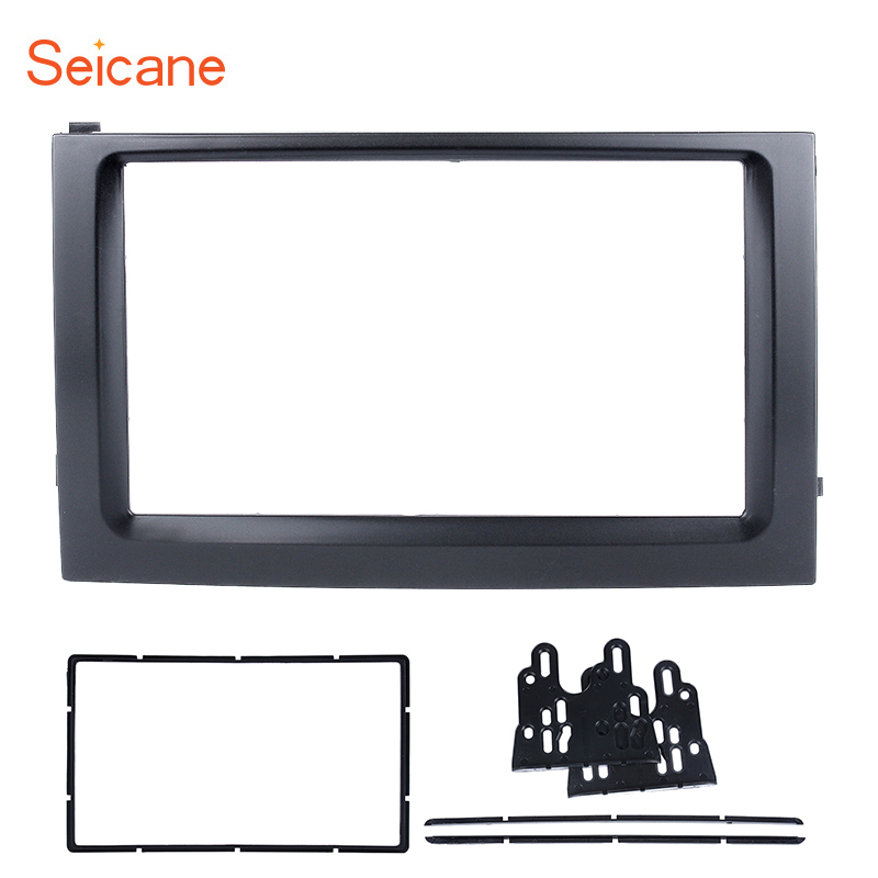Seicane 2DIN Dash Kit Car DVD Radio Fascia for 2003 2004 2005 <font><b>2006</b></font> <font><b>Skoda</b></font> <font><b>Fabia</b></font> 173*98/178*100/178*102mm refitting Panel Frame image