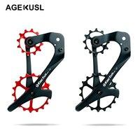 12/18 T велосипед задний переключатель клетка приводной ремённой шкив углеродного волокна для SRAM X1 XX1 GX NX Керамика подшипник велосипедный пере...