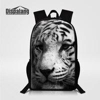 Dispalang Designer Tiger Printing Children Backpacks Animal Prints Rucksack For High School Students Men Casual Daypacks