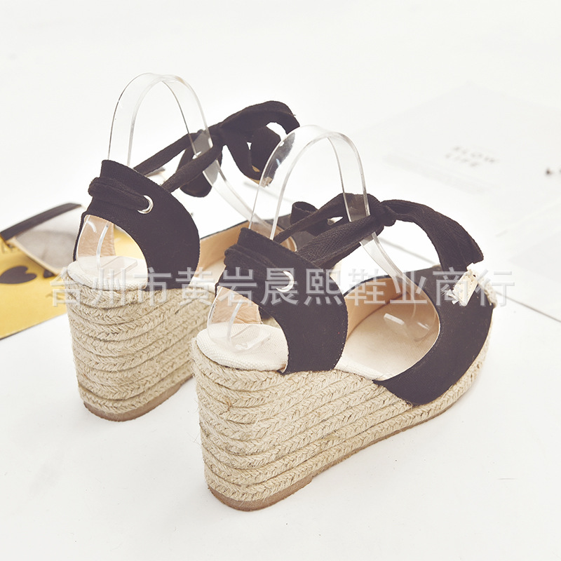 HTB1FJnYNgHqK1RjSZFEq6AGMXXaI Women's Espadrille Ankle Strap Sandals Comfortable Slippers Ladies Womens Casual Shoes Breathable Flax Hemp Canvas Pumps