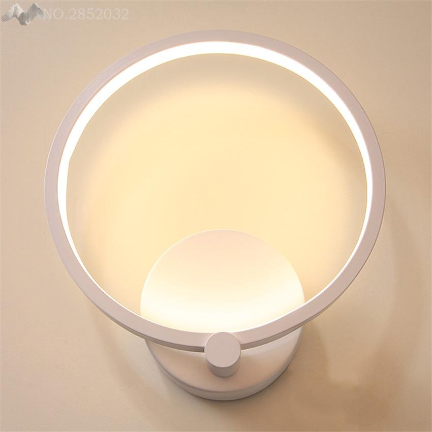 Современные Простые Акриловые Настенные светильники круглые светодиодные светильники для спальни прикроватные для лестниц и коридоров украшения для внутреннего освещения - 2