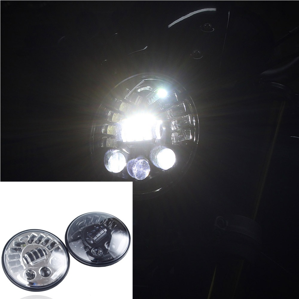 7 Motorcycle Black/Chrome LED P Front Black LED Adaptive Daymaker High Low Beam Headlight for 2014 2017 BMW R Nine T