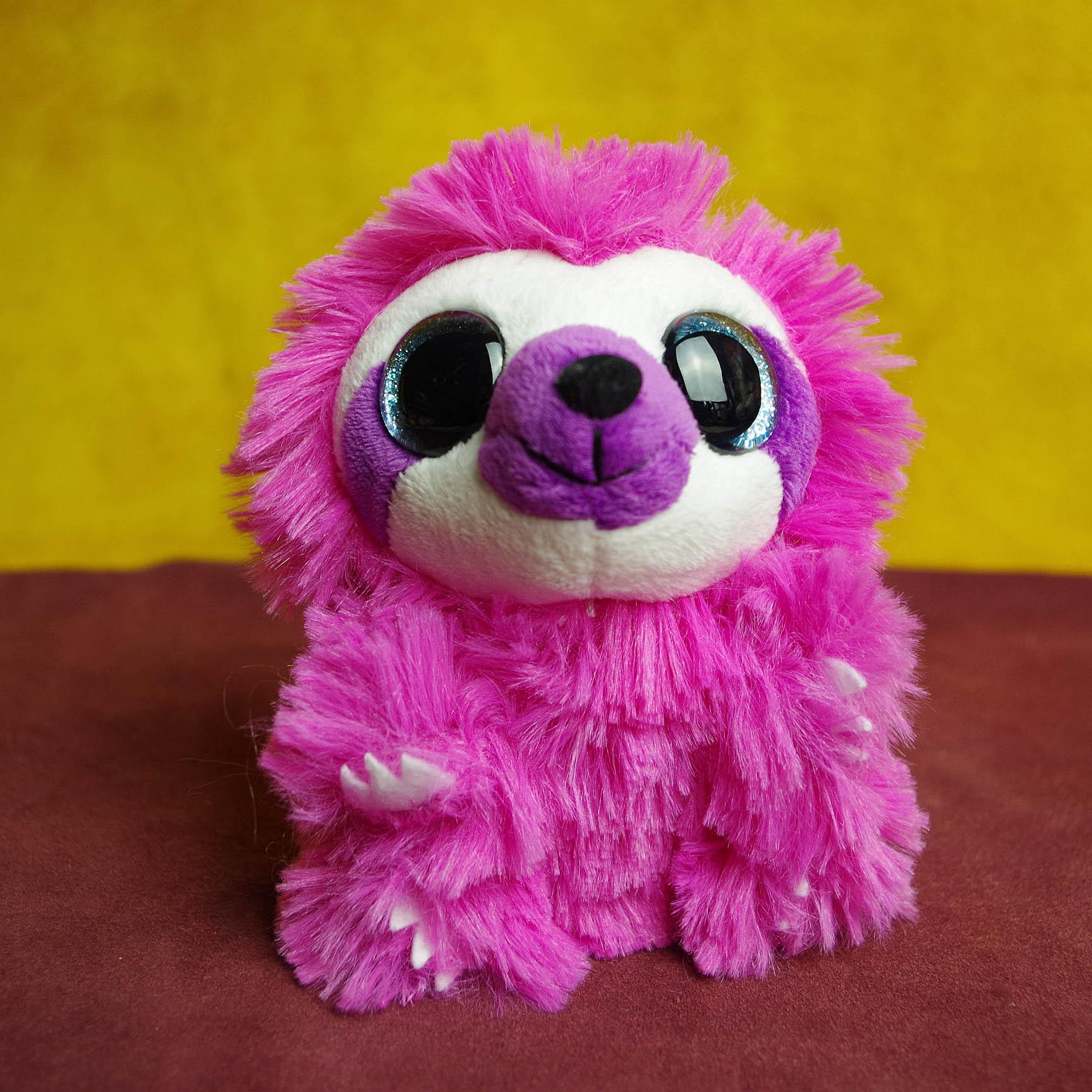 Ty Wild Republic Big Eyes Pink Hedgehog Small Animal Plush Toy Doll