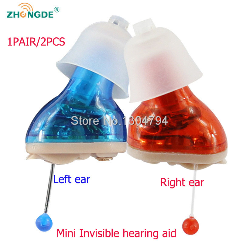 2017NEW!ZhongDe CIC 2PCS/LOT invisible Hearing Aid Portable Small Mini Device Hearing Aids left/right ear Sound Amplifier acosound invisible cic hearing aid digital hearing aids programmable sound amplifiers ear care tools hearing device 210if