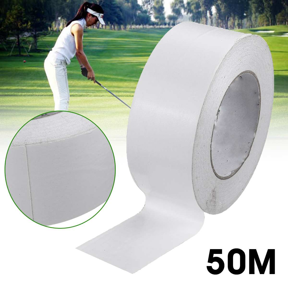1Roll 50M Professional Golf Grips Double Sided Tape Clubs/Putter/Wedge Tape Premium Easy Peel Golf Regripping Accessories
