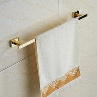 Bathroom Gold Single Towel Bar , Stainless Steel Wall Mounted Towel Holders Towel Bars Towel Racks Bathroom Accessories